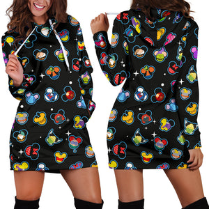 Disney Mickey Head Hoodie Dress