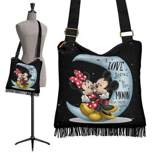 I Love You Mickey n Minnie Boho Handbag
