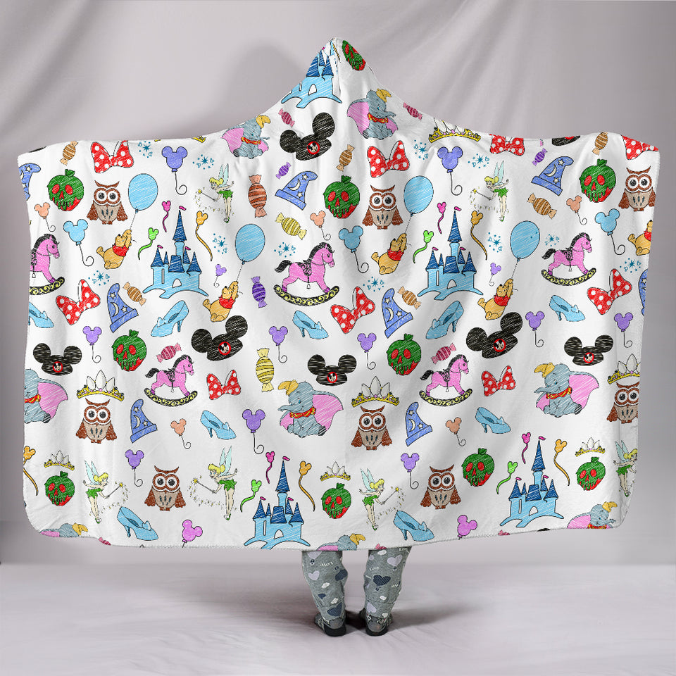 Disney Hats Hooded Blanket