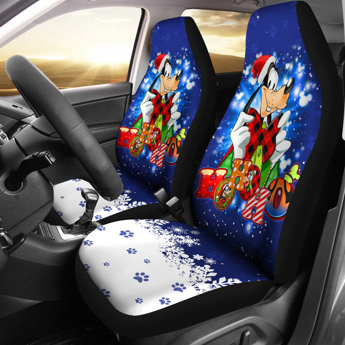 Goofy Christmas Car Seat Covers