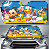 Mickey And Friends Happy Auto Sun Shade