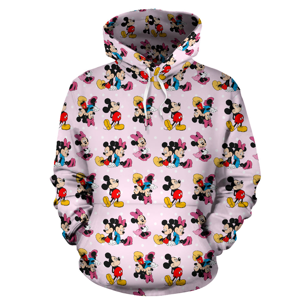 Mickey Minnie Pink All Over Hoodie