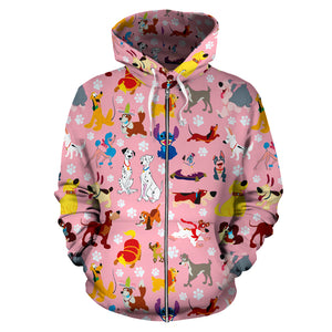 Cute Disney Dog - Zip Up Hoodie
