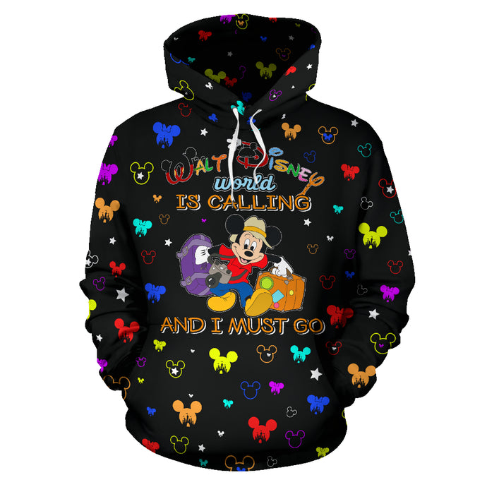 Disney is Calling and I must go All Over Hoodie