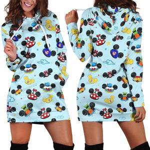 All Hats Women's Hoodie Dress