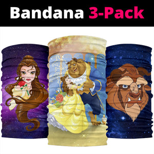 Beauty & The Beast Bandana 3pcs/pack