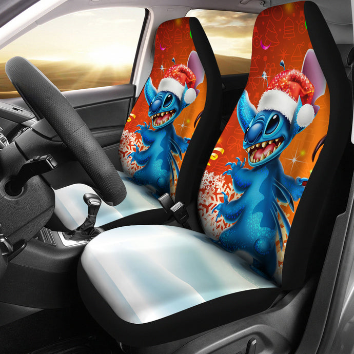 Stitch Christmas Car Seat Covers