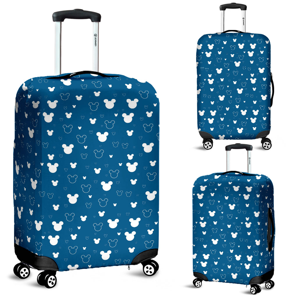 Mickey Blue Luggage Cover