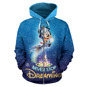 Never Stop Dreaming Zip - Up Hoodie