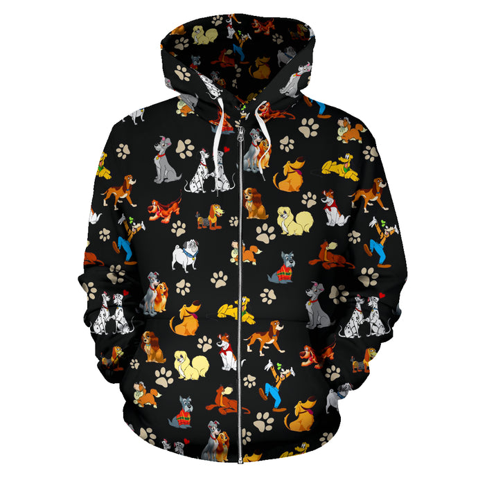 All Disney Dogs - Zip Up Hoodie
