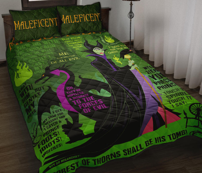 Maleficent Quilt Bed Set