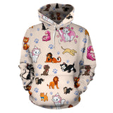 Cats All Over Hoodie