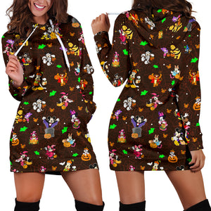 [Express Line Product+ 12$] Disney Halloween Women's Hoodie Dress