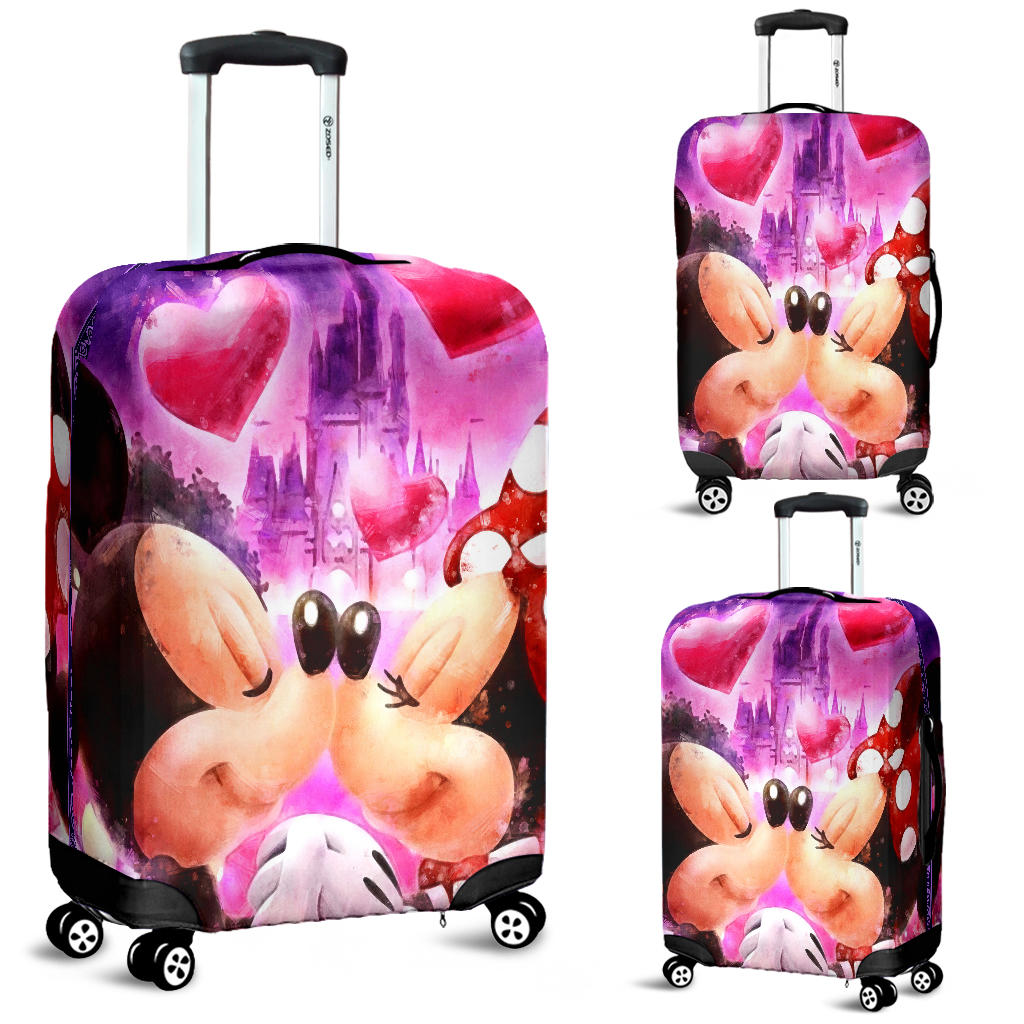 Mickey Minnie Love Luggage Cover