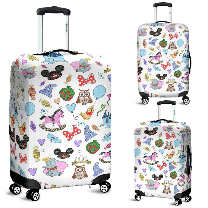Disney Hats Luggage Cover