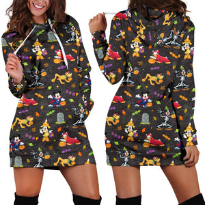 [Express Line Product+ 12$] Mickey Disney Halloween Women's Hoodie Dress