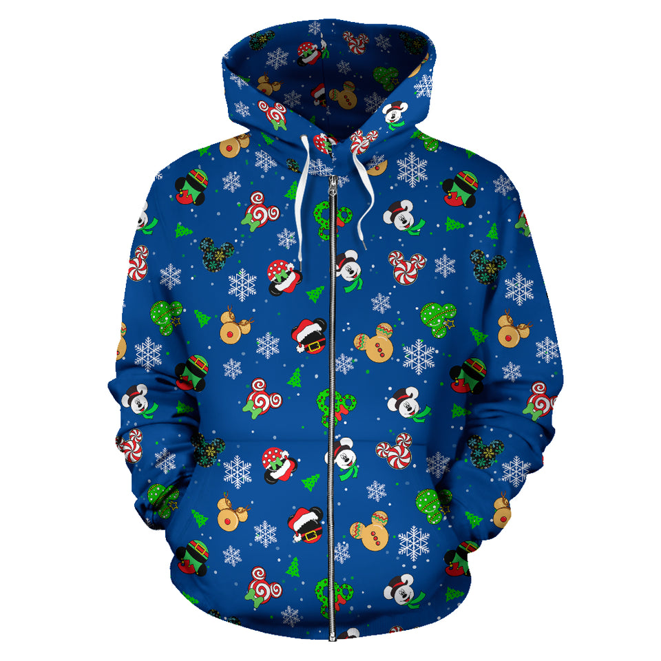 Zip Up Hoodie - Mickey Noel Blue