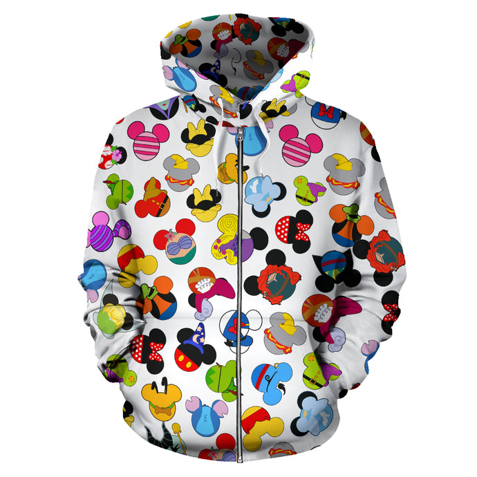 Awesome All Over Zip Up Hoodie