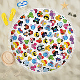 Mickey Pattern Beach Blanket