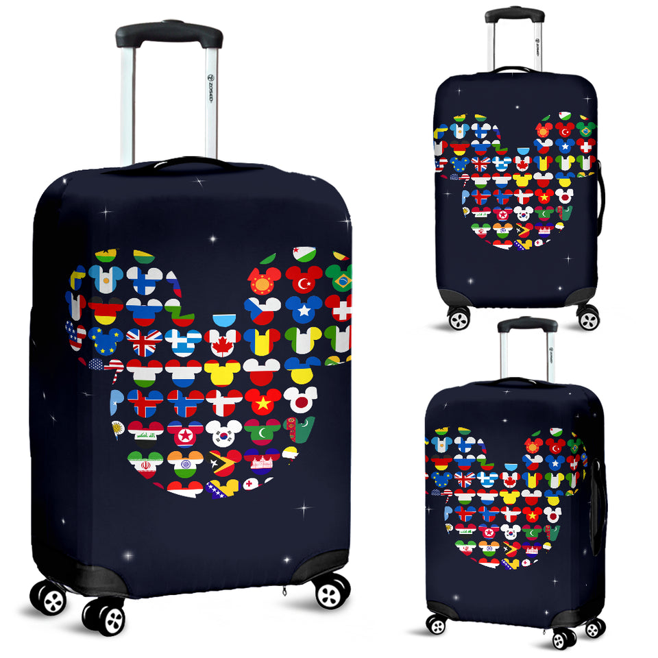 LT - Mickey Flags Luggage Cover