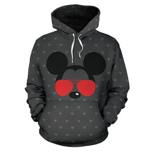 Mickey and Minnie Couple All Over Hoodie