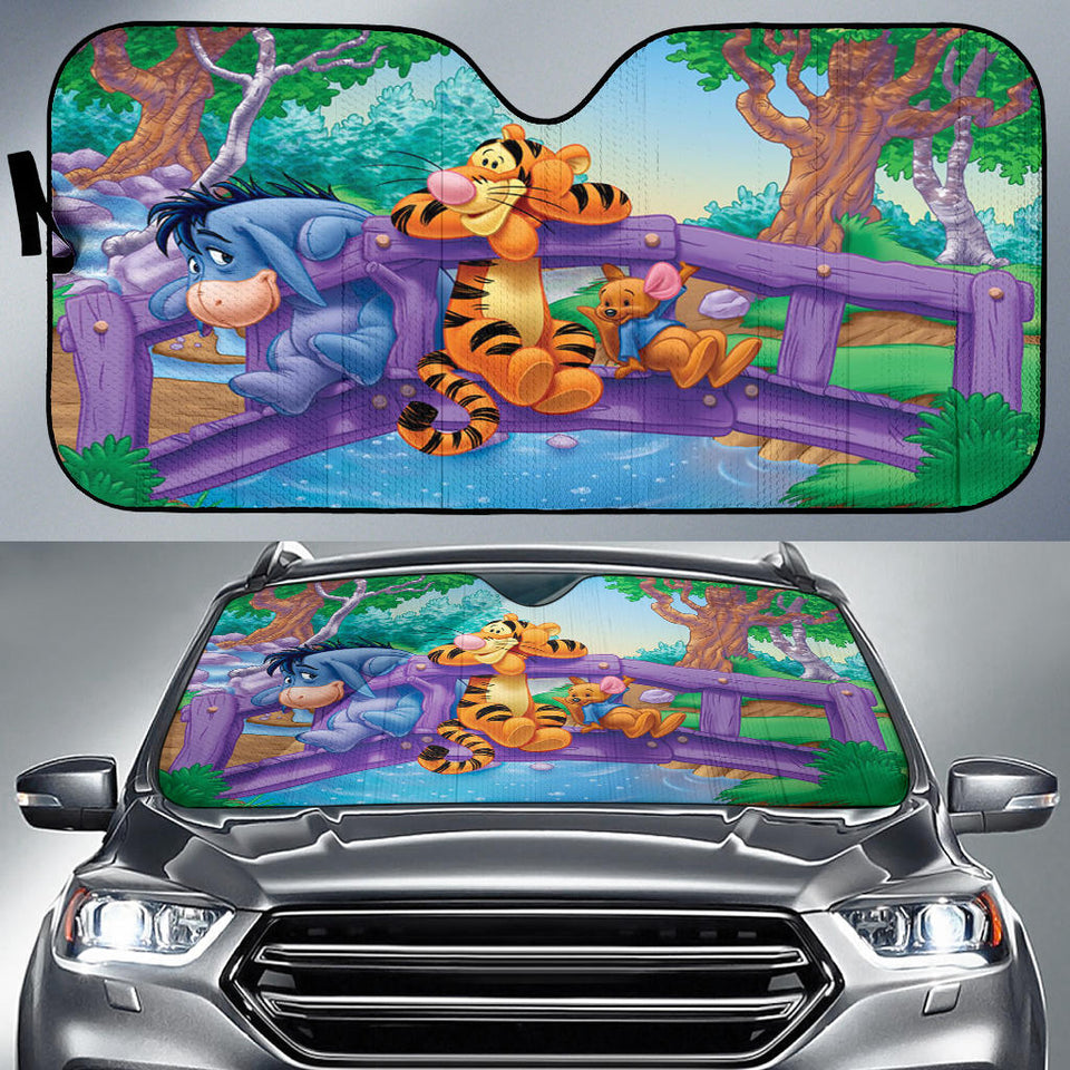 Pooh and Tigger Auto Sun Shade