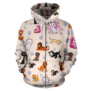 Cats All Over ZIP Hoodie