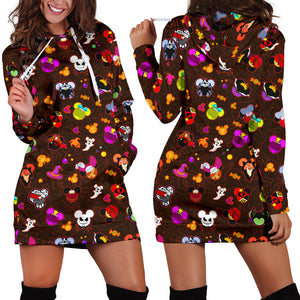 [Express Line Product+ 12$] Halloween Villain Women's Hoodie Dress