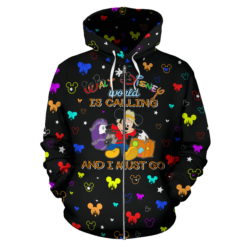 Disney World is Calling- Zip-up Hoodie