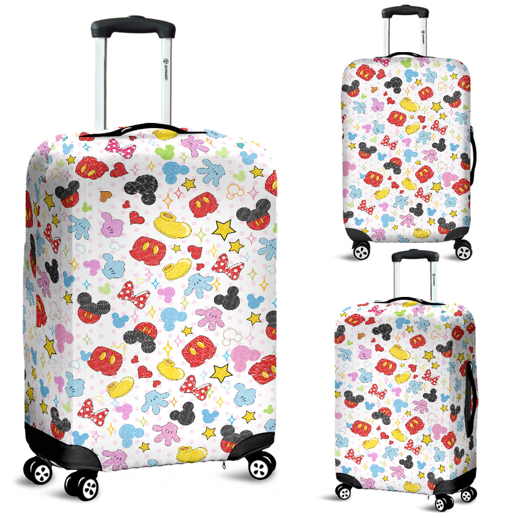 Mickey & Minnie Character Luggage Cover