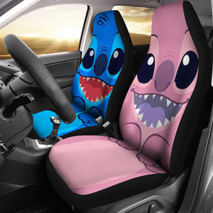 Stitch Blue Pink - Car Seat Cover