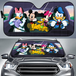 Mickey and Friend - Auto Sun Shades