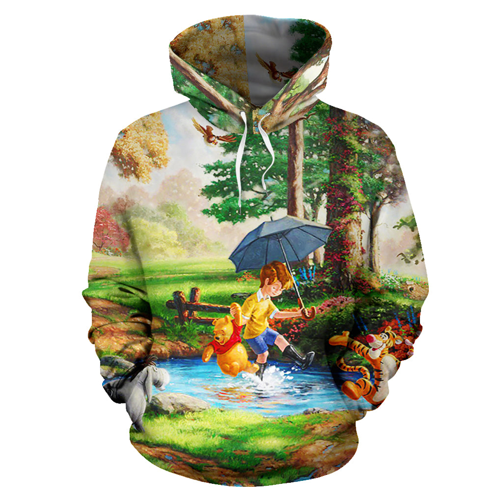Pooh All Over Hoodie