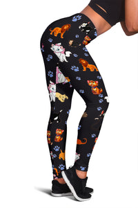 Cats All Over Leggings Black