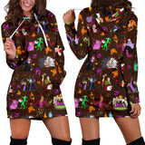 [Express Line Product+ 12$] Villain Disney Halloween Women's Hoodie Dress