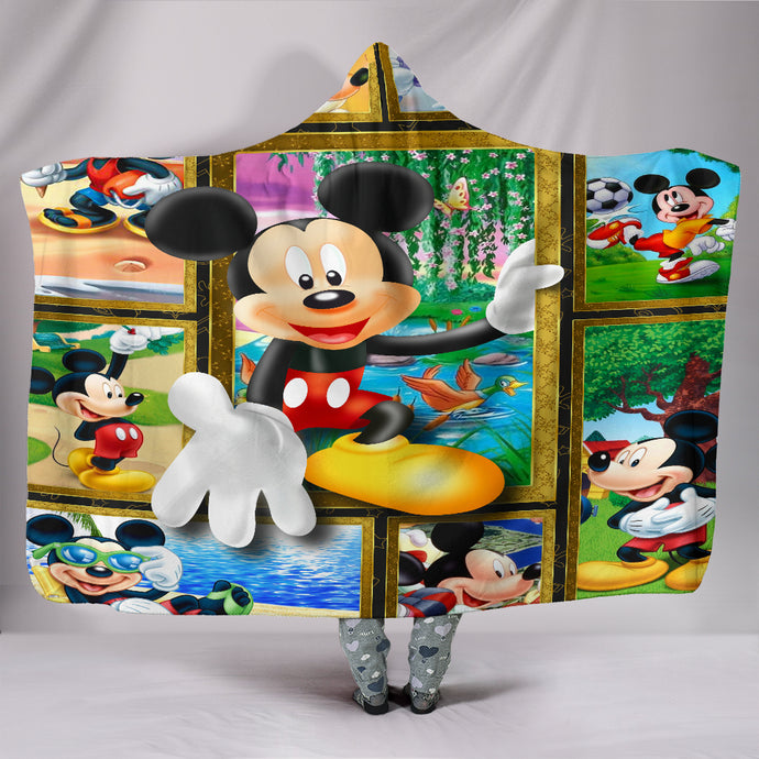 Mickey Disney Hooded Blanket