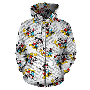 Mickey Love Minnie Zip Up - Hoodie
