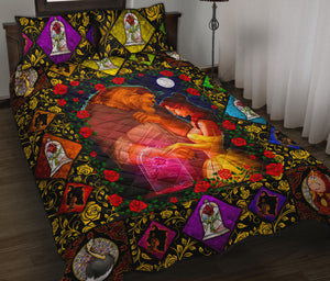 Beauty & The Beast Quilt Bed Set