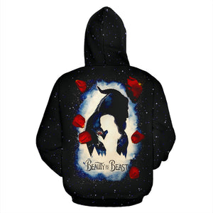 Beauty and The Beast All Over Hoodie