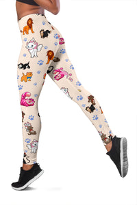 Cats All Over Leggings Nude