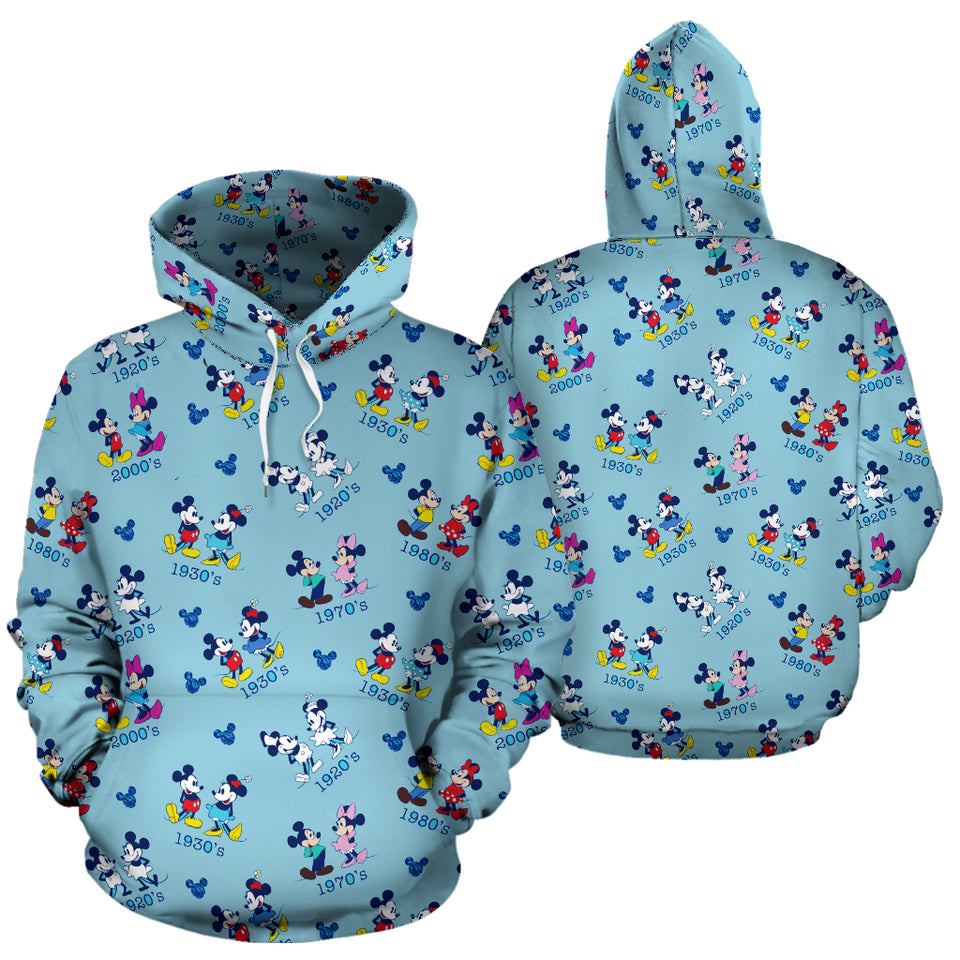 Mickey and Minnie All Over Hoodie