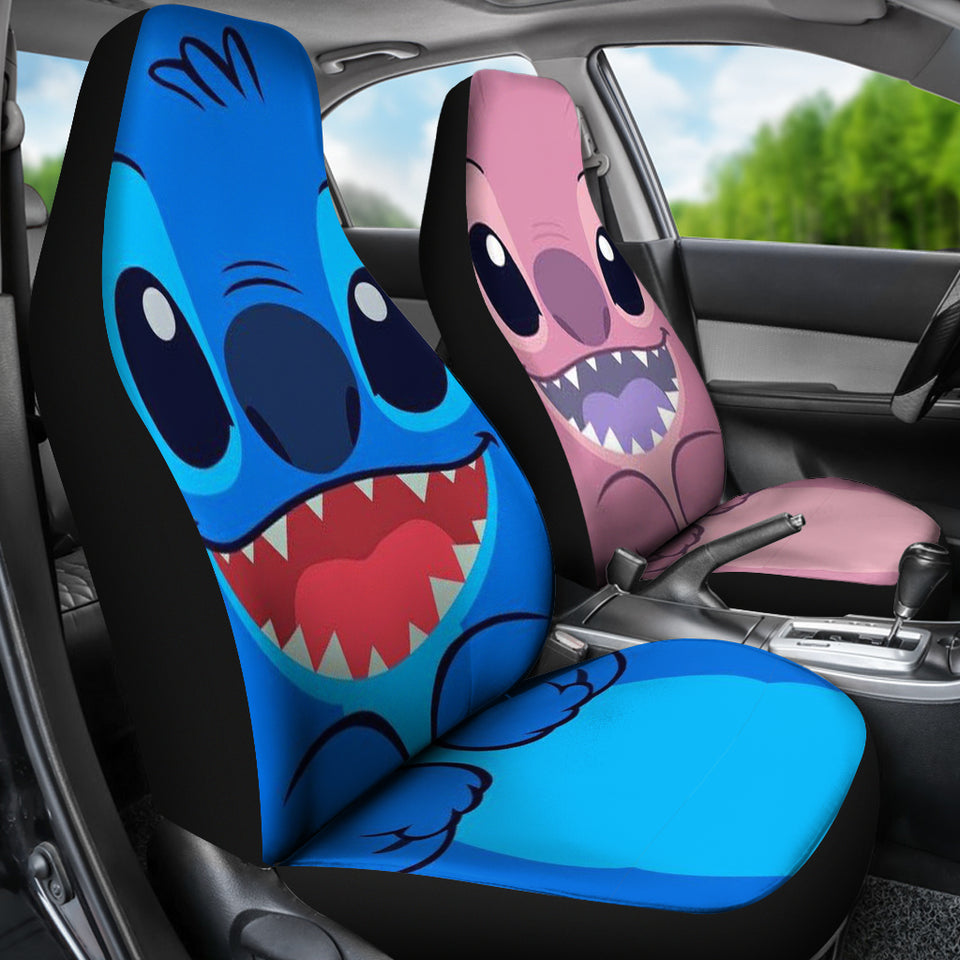 St Blue Pink - Car Seat Cover