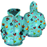 Disney Merry Christmas Green Zip - Up Hoodie