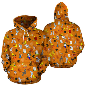[Express Line Product+ 12$] Halloween Dogs All Over Hoodie