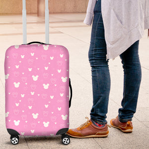 Mickey Pink Luggage Cover