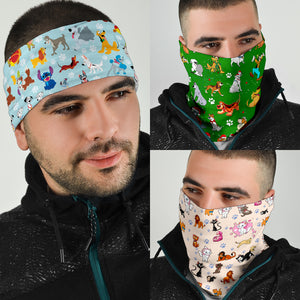 Dn Dogs Pattern Bandana 3pcs/pack
