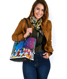 Mickey Time Small Leather Tote [Express Shipping Applied]