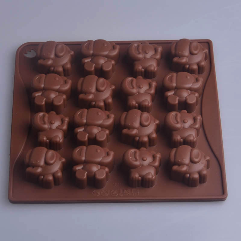 Elephant Shape Chocolate Molds Silicone Mold DIY Cake Mold Baking Tools Bakeware Cupcake Children Tools for kitchen