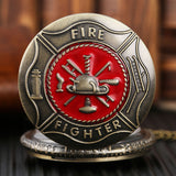 Fire Fighter Pocket Watch