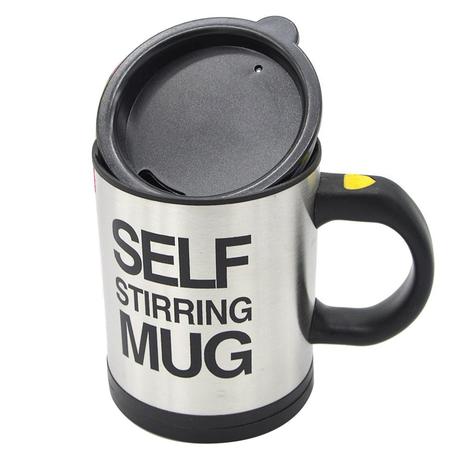 Stainless Steel  Self Stirring Mug for Travel Office Home